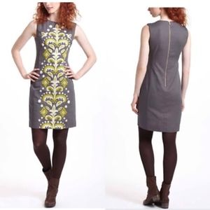 Anthropologie Tabitha Grey Rare Embroidered Dress